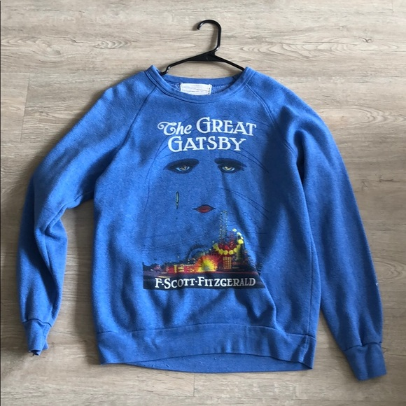 Sweaters - GREAT GATSBY GRAPHIC OVERSIZED SWEATER
